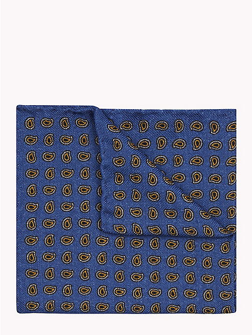 Paisley Wool Pocket Square - 400 - TOMMY HILFIGER Ties & Pocket Squares - main image