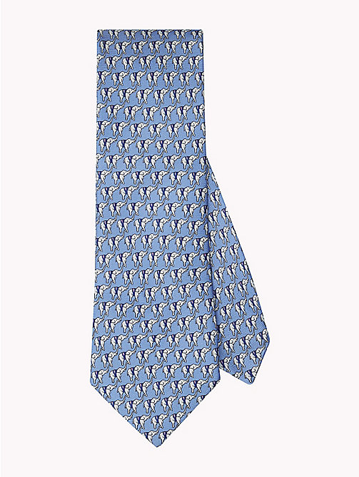 TOMMY HILFIGER Elephant Print Silk Tie - 415 - TOMMY HILFIGER Ties & Pocket Squares - main image