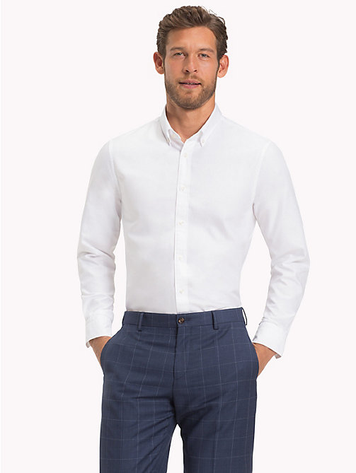 TOMMY HILFIGER Slim Fit Oxford Shirt - 100 - TOMMY HILFIGER Formal Shirts - main image