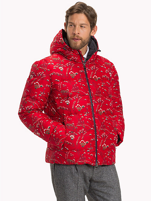 TOMMY HILFIGER Printed Puffer Jacket - 615 - TOMMY HILFIGER Black Friday Men - main image