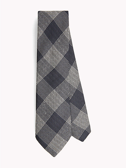 TOMMY HILFIGER Cotton Silk Check Tie - 428 - TOMMY HILFIGER Ties & Pocket Squares - main image