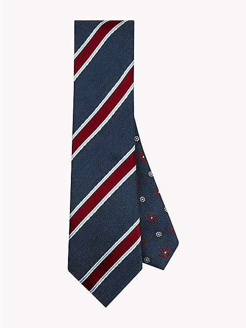 TOMMY HILFIGER Cotton Silk Crest Stripe Tie - 428 - TOMMY HILFIGER Ties & Pocket Squares - main image