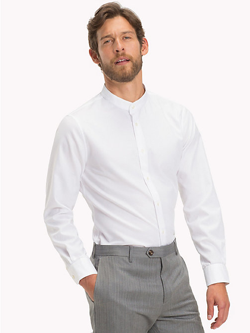 TOMMY HILFIGER Stand-Up Collar Cotton Shirt - 100 - TOMMY HILFIGER Shirts - detail image 1