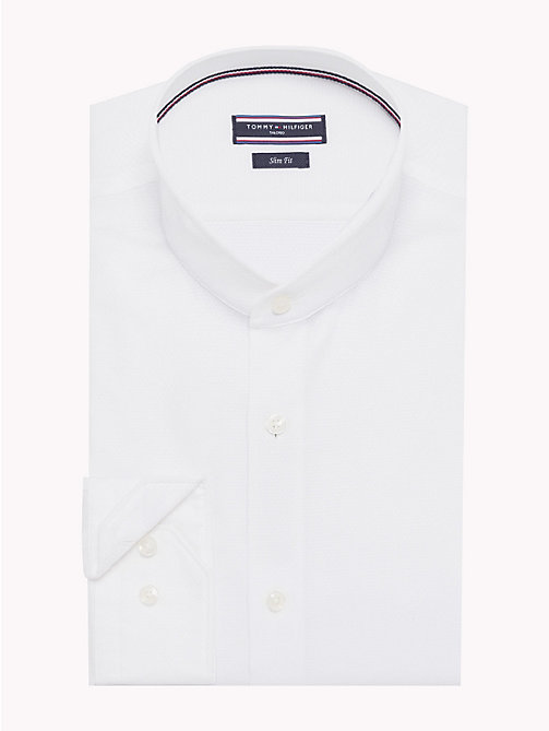 TOMMY HILFIGER Stand-Up Collar Cotton Shirt - 100 - TOMMY HILFIGER Formal Shirts - main image