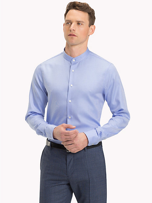 TOMMY HILFIGER Stand-Up Collar Cotton Shirt - 415 - TOMMY HILFIGER Formal Shirts - detail image 1