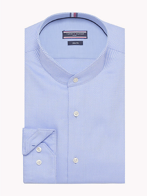 TOMMY HILFIGER Stand-Up Collar Cotton Shirt - 415 - TOMMY HILFIGER Formal Shirts - main image