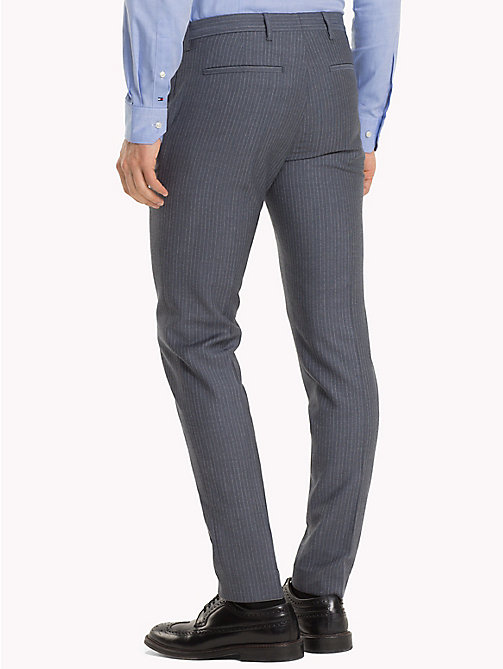 TOMMY HILFIGER Stripe Print Wool Trousers - 424 - TOMMY HILFIGER Formal Trousers - detail image 1