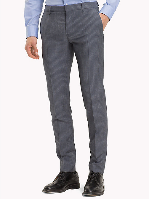 TOMMY HILFIGER Stripe Print Wool Trousers - 424 - TOMMY HILFIGER Formal Trousers - main image