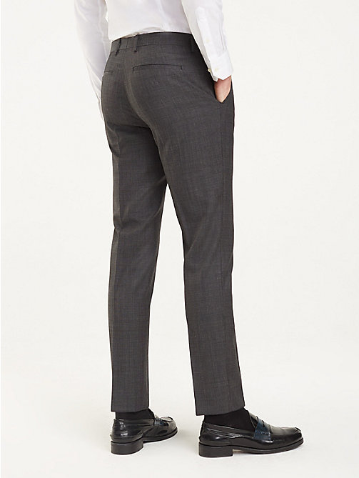 TOMMY HILFIGER Regular Fit Wool Trousers - 029 - TOMMY HILFIGER Formal Trousers - detail image 1