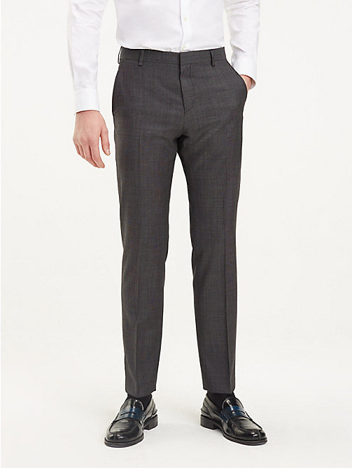 TOMMY HILFIGER Regular Fit Wool Trousers - 029 - TOMMY HILFIGER Formal Trousers - main image