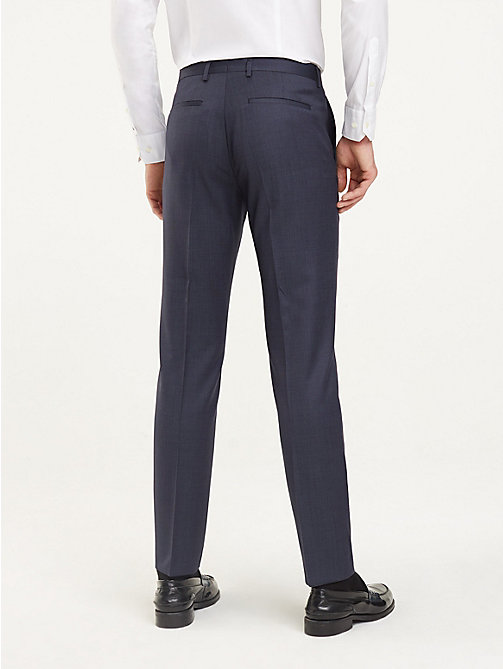 TOMMY HILFIGER Regular Fit Wool Trousers - 428 - TOMMY HILFIGER Formal Trousers - detail image 1