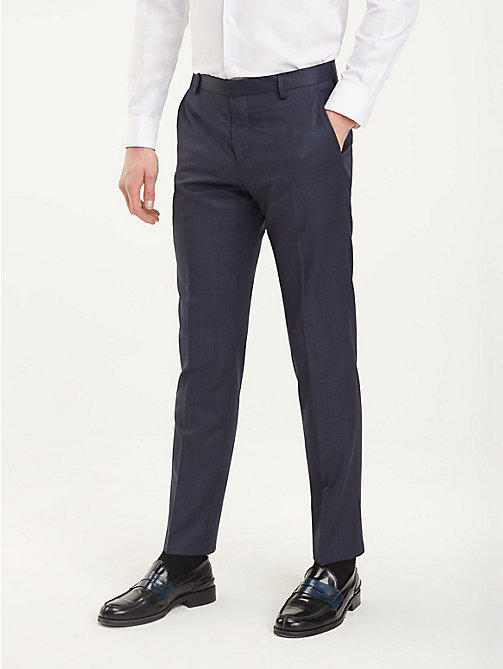 TOMMY HILFIGER Regular Fit Wool Trousers - 428 - TOMMY HILFIGER Formal Trousers - main image
