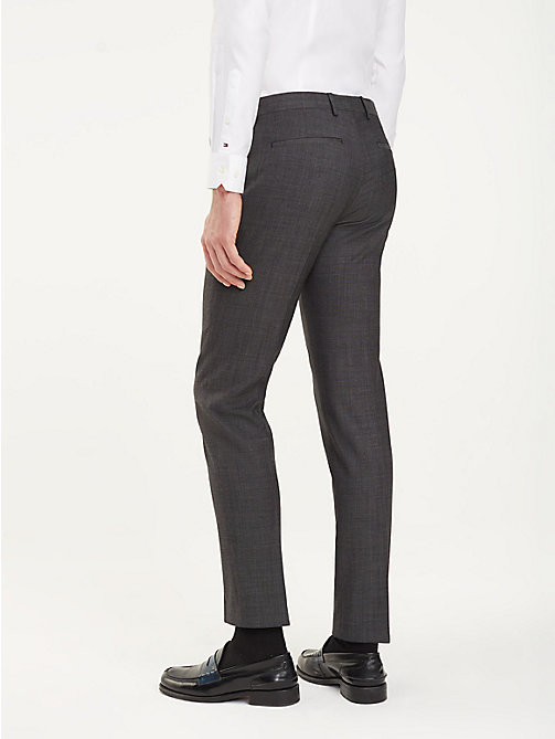 TOMMY HILFIGER Slim Fit Wool Trousers - 029 - TOMMY HILFIGER Formal Trousers - detail image 1