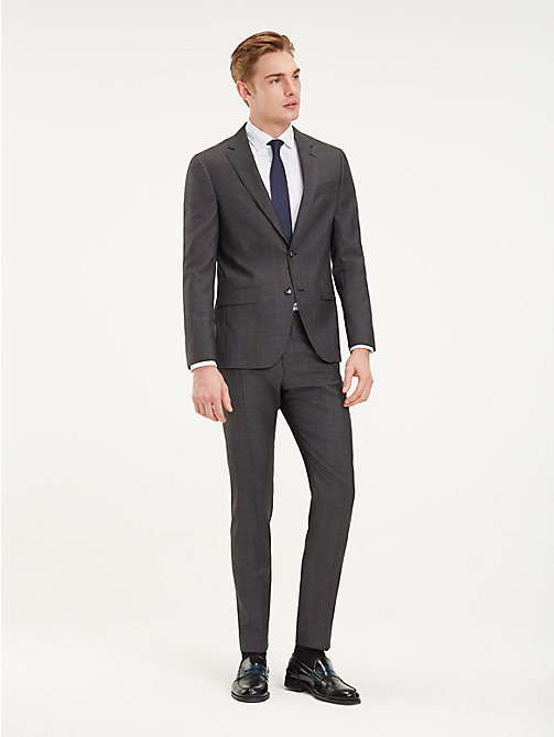 TOMMY HILFIGER Slim Fit Wool Trousers - 029 - TOMMY HILFIGER Formal Trousers - main image