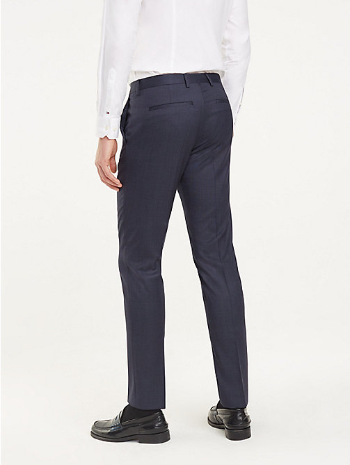 TOMMY HILFIGER Slim Fit Wool Trousers - 428 - TOMMY HILFIGER Formal Trousers - detail image 1