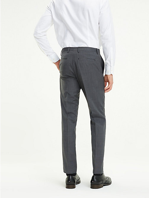 TOMMY HILFIGER Virgin Wool Suit Trousers - 026 - TOMMY HILFIGER Formal Trousers - detail image 1