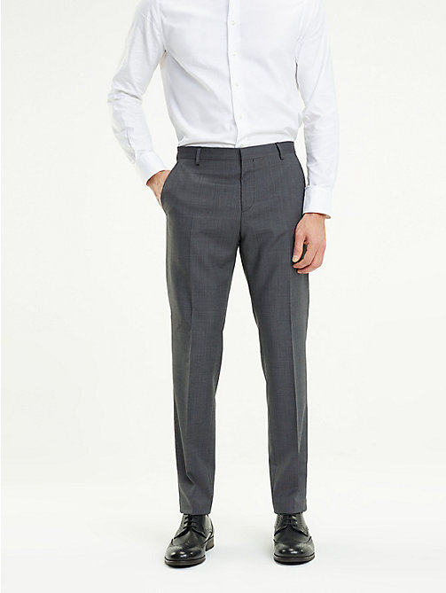 TOMMY HILFIGER Virgin Wool Suit Trousers - 026 - TOMMY HILFIGER Formal Trousers - main image