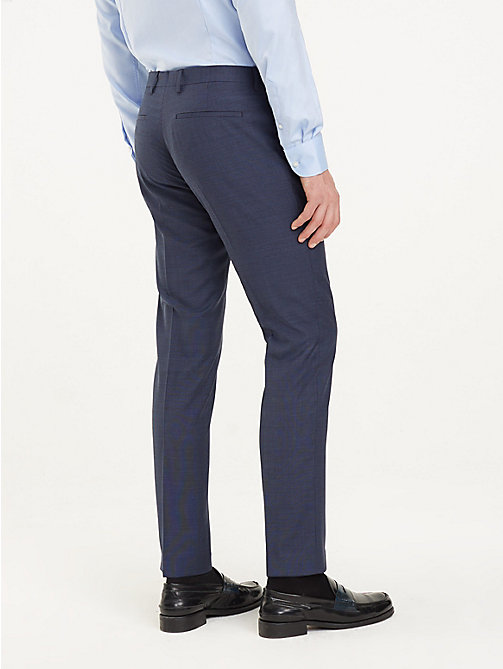 TOMMY HILFIGER Virgin Wool Suit Trousers - 425 - TOMMY HILFIGER Formal Trousers - detail image 1