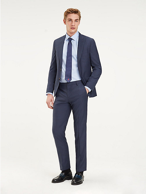 TOMMY HILFIGER Blazer slim fit con rever a punta - 425 - TOMMY HILFIGER Blazer - dettaglio immagine 1