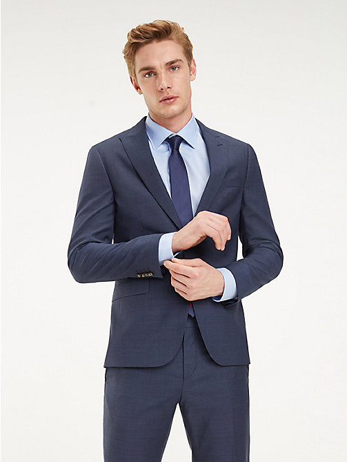 TOMMY HILFIGER Blazer slim fit con rever a punta - 425 - TOMMY HILFIGER Blazer - immagine principale