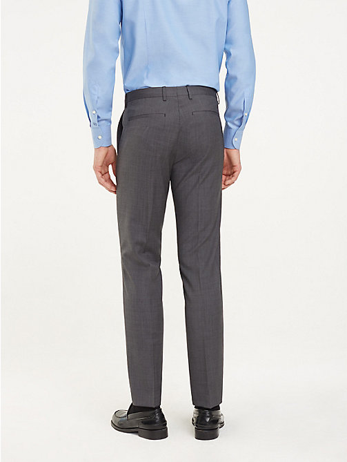 TOMMY HILFIGER Pressed Slim Fit Trousers - 026 - TOMMY HILFIGER Formal Trousers - detail image 1