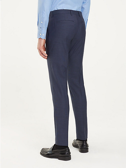 TOMMY HILFIGER Pressed Slim Fit Trousers - 425 - TOMMY HILFIGER Formal Trousers - detail image 1