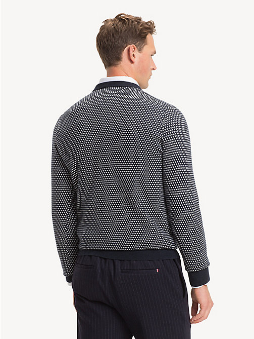 TOMMY HILFIGER Bird's Eye Crew Neck Jumper - SKY CAPTAIN - TOMMY HILFIGER Jumpers - detail image 1