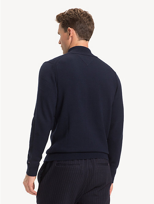 TOMMY HILFIGER Mock Neck Wool Jumper - SKY CAPTAIN - TOMMY HILFIGER Winter Warmers - detail image 1