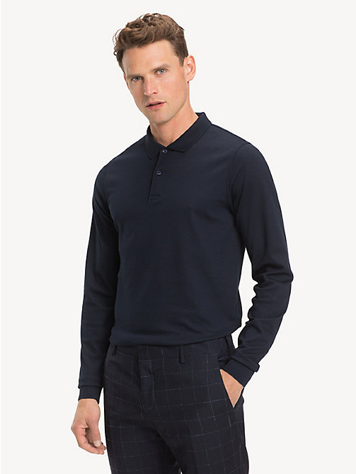 TOMMY HILFIGER Pure Cotton Slim Fit Polo - SKY CAPTAIN - TOMMY HILFIGER Polo Shirts - main image