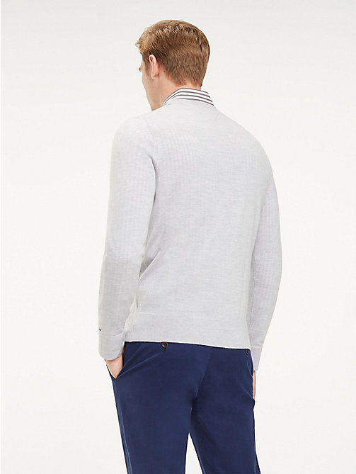 TOMMY HILFIGER Luxury Wool Crew Neck Jumper - HIGH RISE HTR - TOMMY HILFIGER Winter Warmers - detail image 1