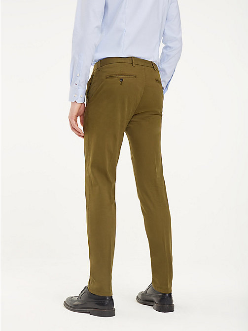 TOMMY HILFIGER TH Flex Slim Fit Trousers - DARK OLIVE - TOMMY HILFIGER Formal Trousers - detail image 1