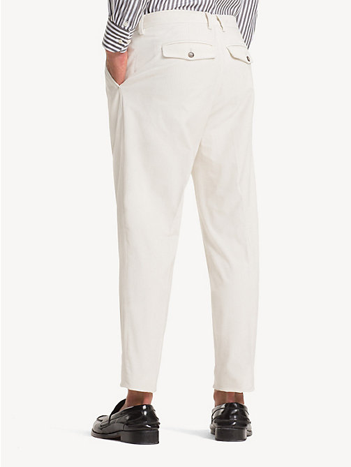 TOMMY HILFIGER Corduroy slim fit broek - OFF WHITE - TOMMY HILFIGER NIEUW - detail image 1