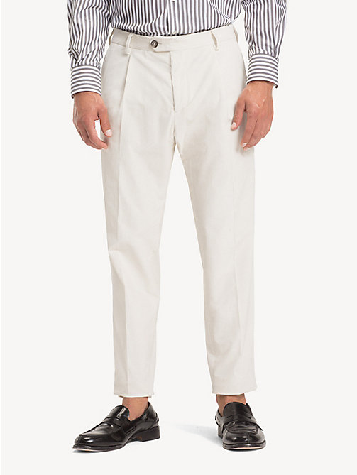 TOMMY HILFIGER Corduroy Slim Fit Trousers - OFF WHITE - TOMMY HILFIGER NEW IN - main image