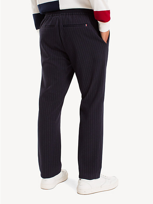 TOMMY HILFIGER TH Flex Pinstripe Trousers - MIDNIGHT BLUE - TOMMY HILFIGER Formal Trousers - detail image 1