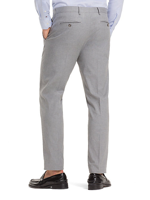 TOMMY HILFIGER TH Flex Slim Fit Trousers - LIGHT GREY - TOMMY HILFIGER Formal Trousers - detail image 1