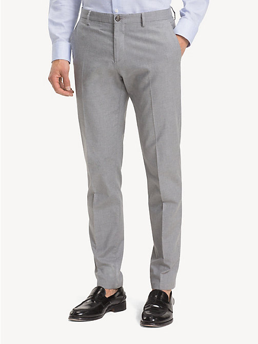TOMMY HILFIGER TH Flex Slim Fit Trousers - LIGHT GREY - TOMMY HILFIGER Formal Trousers - main image