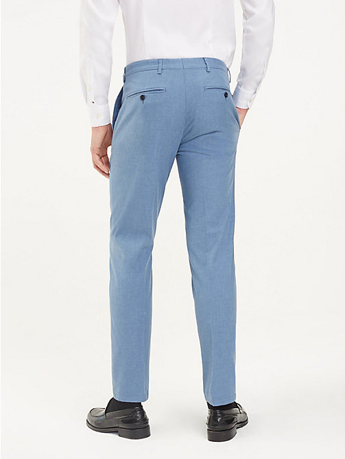 TOMMY HILFIGER TH Flex Slim Fit Trousers - HEATHER BLUE - TOMMY HILFIGER Formal Trousers - detail image 1