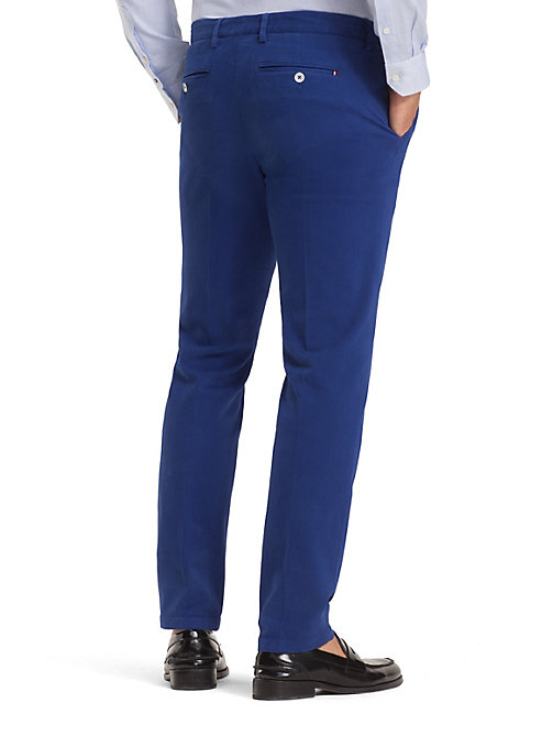 TOMMY HILFIGER TH Flex Slim Fit Trousers - BRIGHT COBALT - TOMMY HILFIGER Formal Trousers - detail image 1