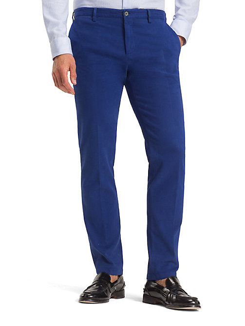 TOMMY HILFIGER TH Flex Slim Fit Trousers - BRIGHT COBALT - TOMMY HILFIGER Formal Trousers - main image