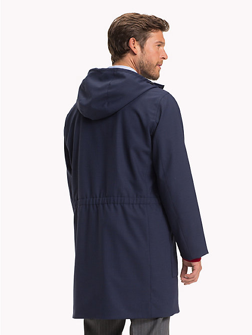 TOMMY HILFIGER Wool Blend Hooded Parka - SKY CAPTAIN - TOMMY HILFIGER NEW IN - detail image 1