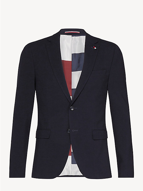 TOMMY HILFIGER Extra Slim Fit Sakko aus Wollmix - MIDNIGHT BLUE - TOMMY HILFIGER Luxuriose Gesten - main image 1