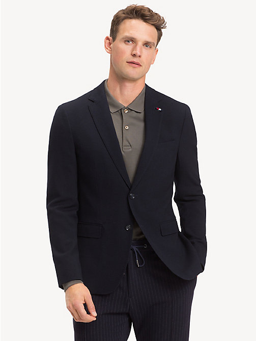 TOMMY HILFIGER Extra Slim Fit Sakko aus Wollmix - MIDNIGHT BLUE - TOMMY HILFIGER Luxuriose Gesten - main image