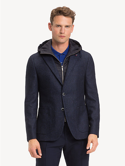 TOMMY HILFIGER Hooded Slim Fit Blazer - MEDIVAL BLUE - TOMMY HILFIGER Blazers - main image