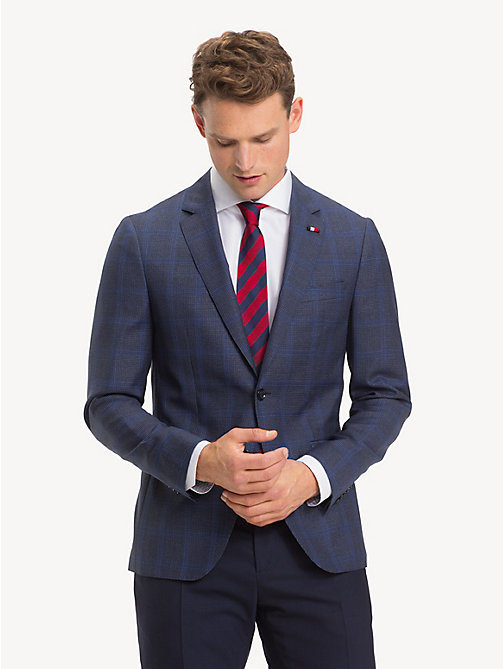 TOMMY HILFIGER Houndstooth Blazer - DUTCH BLUE - TOMMY HILFIGER NEW IN - main image