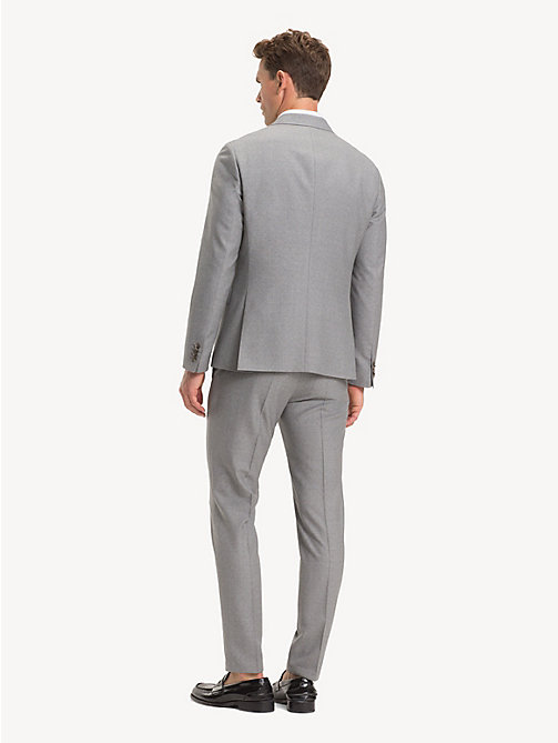 TOMMY HILFIGER TH Flex Pure Wool Suit - LIGHT GREY - TOMMY HILFIGER Suits - detail image 1