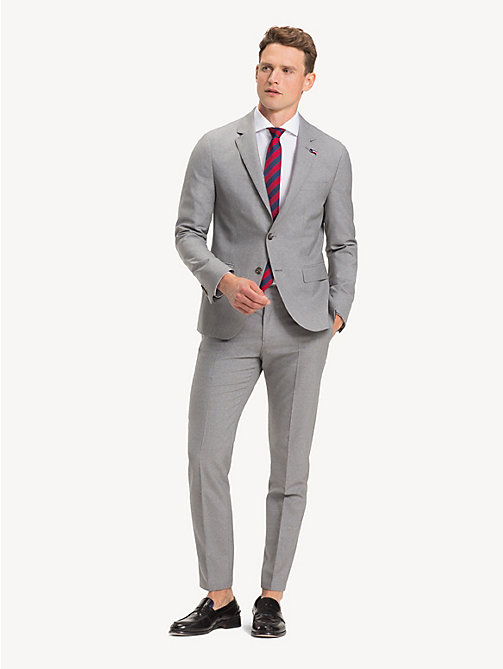 TOMMY HILFIGER TH Flex Pure Wool Suit - LIGHT GREY - TOMMY HILFIGER NEW IN - main image