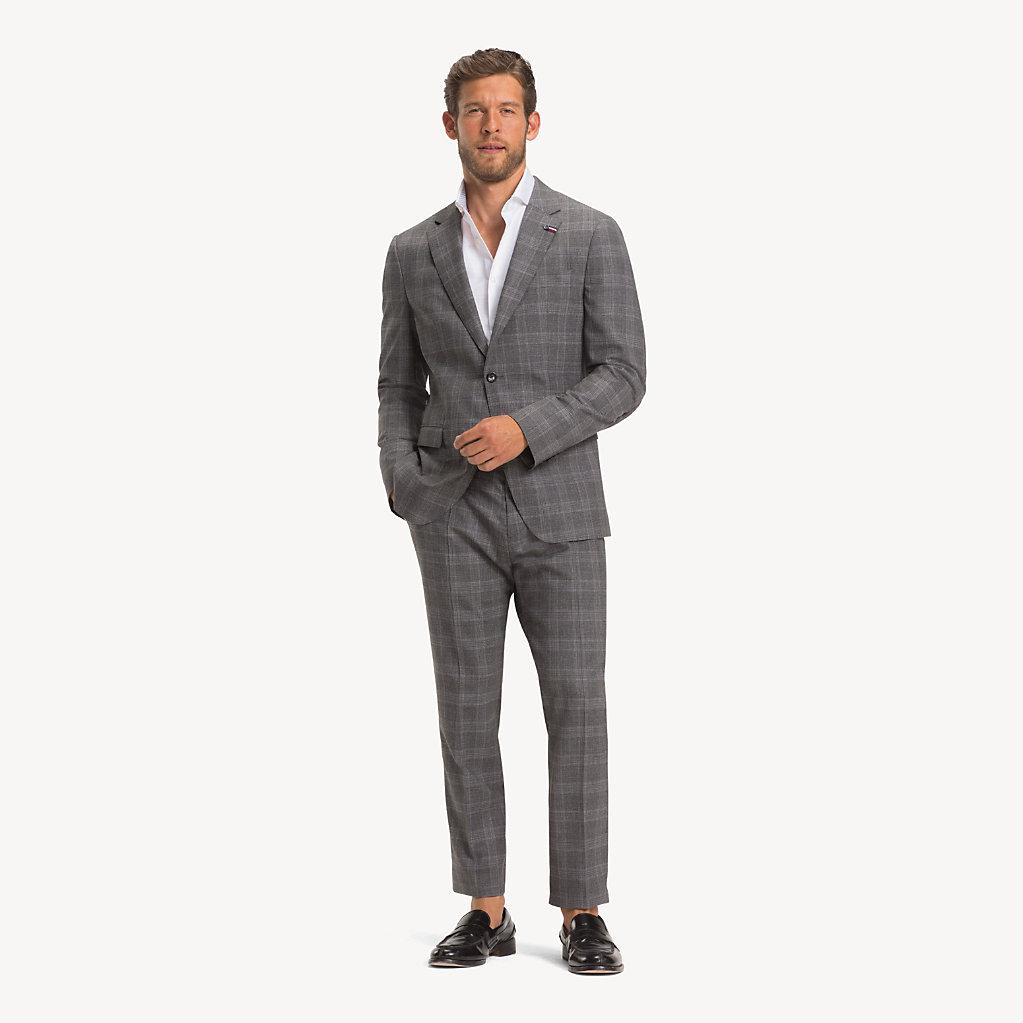Tommy Hilfiger - Anzug aus Wolle mit Glencheck-Karos - 1