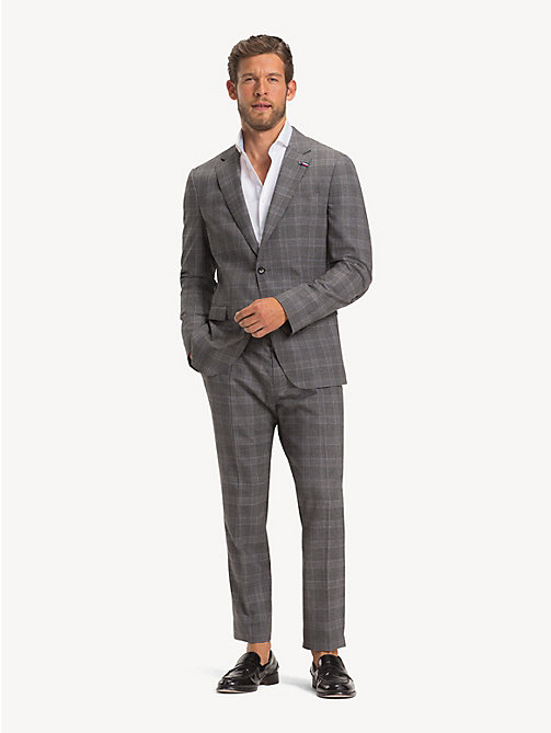 TOMMY HILFIGER Wool Glen Check Suit - CLOUDBURST - TOMMY HILFIGER NEW IN - main image