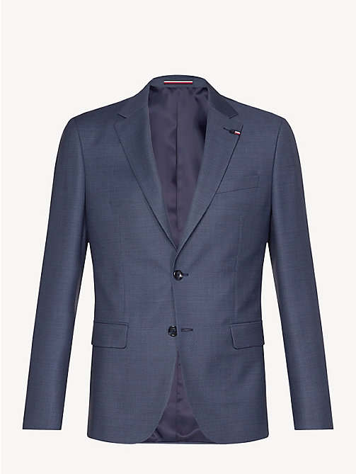 TOMMY HILFIGER Virgin Wool Regular Fit Blazer - DUTCH BLUE - TOMMY HILFIGER Blazers - detail image 1