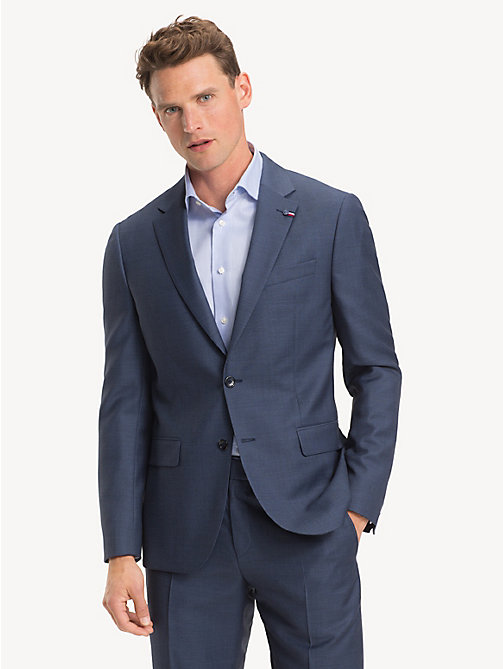 TOMMY HILFIGER Virgin Wool Regular Fit Blazer - DUTCH BLUE - TOMMY HILFIGER Blazers - main image
